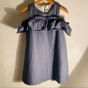 Cat And Jack Girls 10 12 Denim Dress LARGE